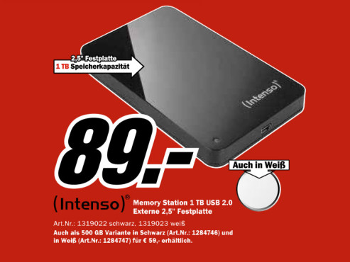 Intenso Memory Station 1TB © Media Markt