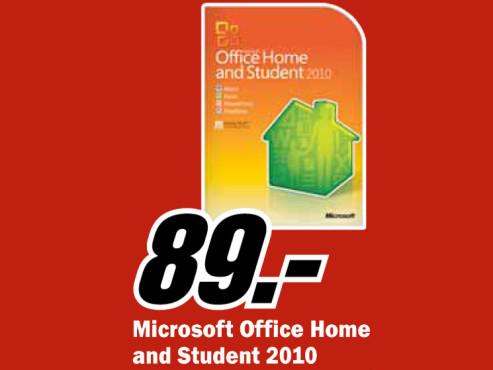 Microsoft Office 2010 Home And Student (Win) (DE) ©Media Markt