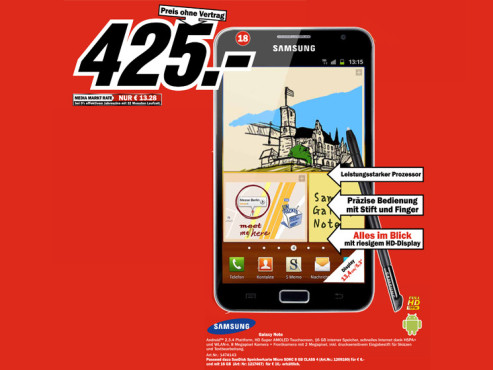 Samsung Galaxy Note © Media Markt