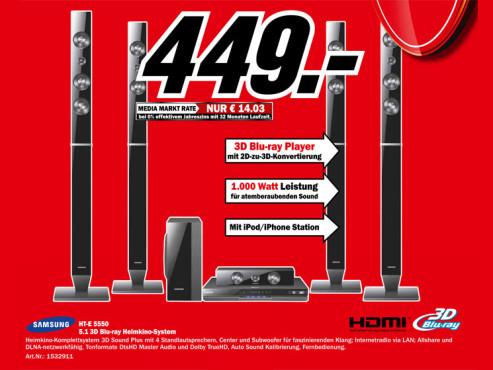 Samsung HT-E5550 ©Media Markt