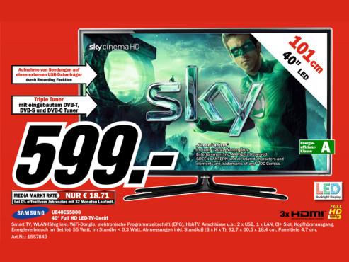 Samsung UE40ES5800 ©Media Markt