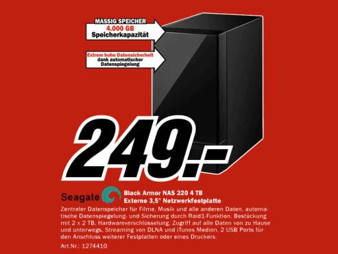 Seagate Black Armor NAS 220 4TB ©Media Markt