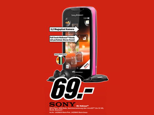 Sony-Ericsson Mix Walkman © Media Markt