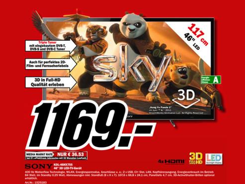 Sony KDL-46HX755 ©Media Markt