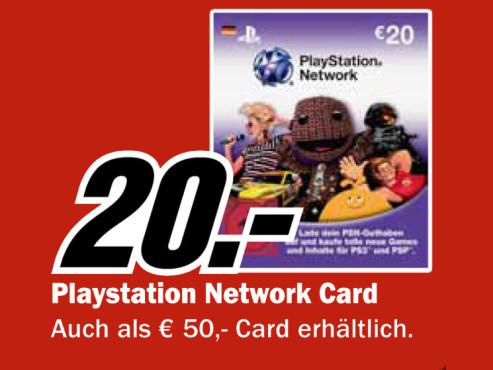 Sony PlayStation Network Card 20 � ©Media Markt