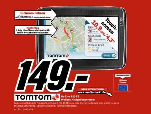 TomTom Go Live 820 Europe ©Media Markt