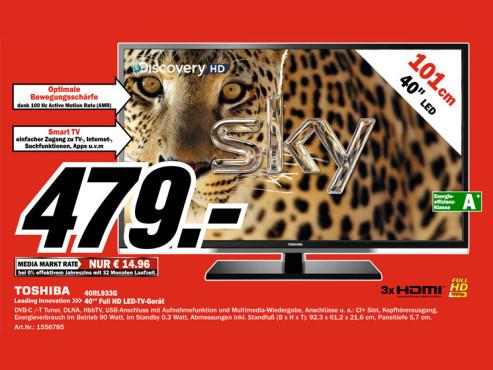 Toshiba 40RL933G ©Media Markt