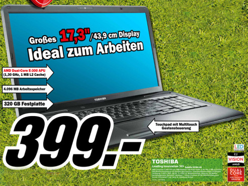 Toshiba Satellite C670D-126 © Media Markt