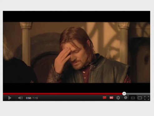One does not simply... © YouTube