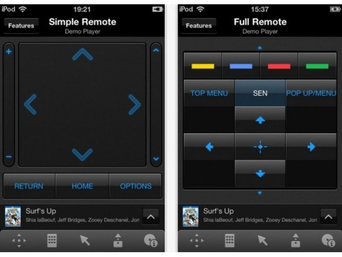 Screenshot Sony Media Remote © COMPUTER BILD
