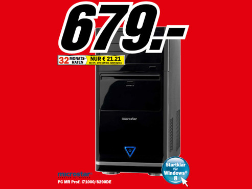 Microstar PC MR Prof. i71000/8290DE © Media Markt