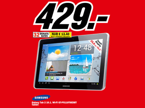 Samsung Galaxy Tab 2 10.1 WiFi © Media Markt