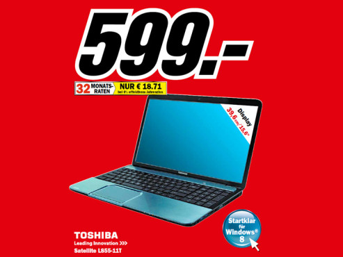 Toshiba Satellite L855-11T © Media Markt
