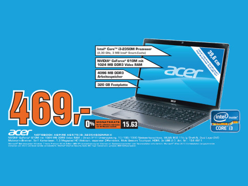 Acer Aspire AS5750G-32354G32MNKK © Saturn