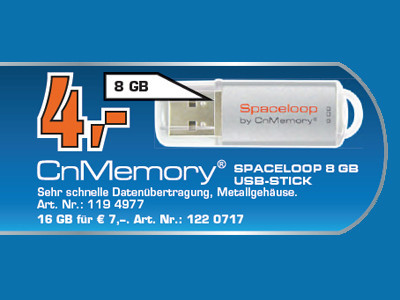 CnMemory Spaceloop 8GB © Saturn