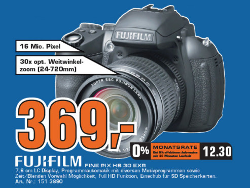 Fujifilm FinePix HS30EXR ©Saturn