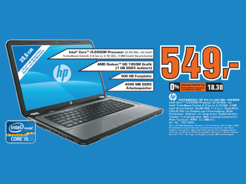 Hewlett-Packard HP Pavilion G6-1339SG © Saturn