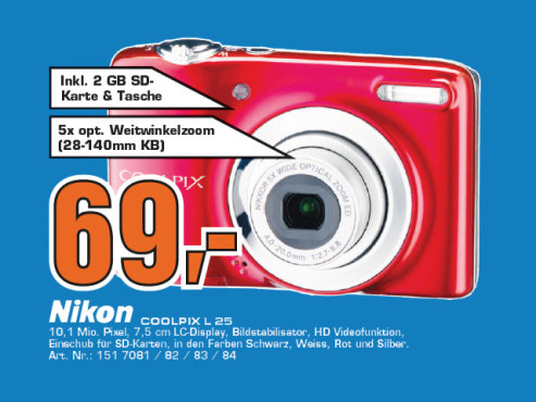 Nikon COOLPIX L25 © Saturn