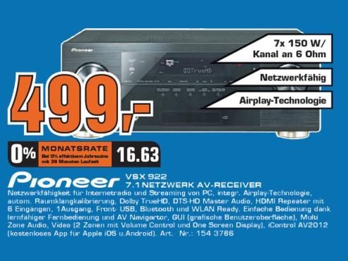 Pioneer VSX-922-K ©Saturn