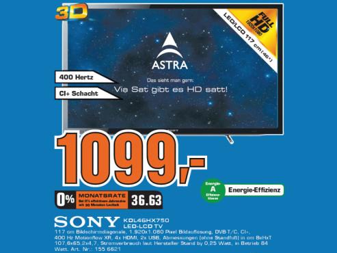 Sony KDL-46HX750 ©Saturn