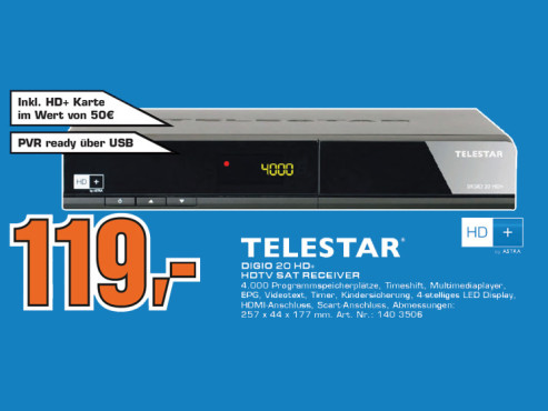 Telestar Digio 20 HD+ © Saturn