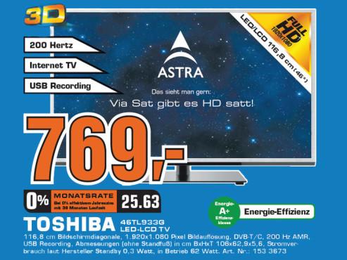 Toshiba 46TL933G ©Saturn