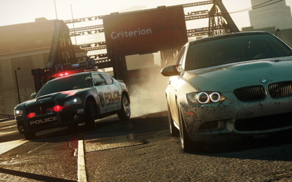 Rennspiel NfS – Most Wanted: Frontal © Electronic Arts