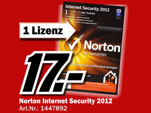 Symantec Norton Internet Security 2012 (Win) (DE) ©Media Markt