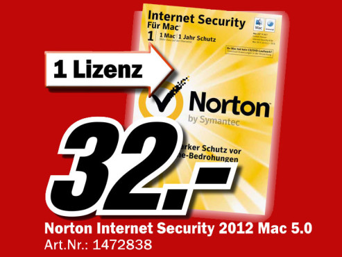 Symantec Norton Internet Security 5.0 Upgrade (Mac) (DE) © Media Markt