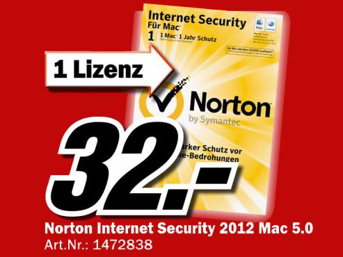 Symantec Norton Internet Security 5.0 Upgrade (Mac) (DE) ©Media Markt