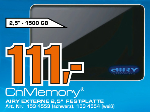 CnMemory 2.5 Airy USB 3.0 1.5TB © Saturn