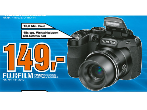 Fujifilm Finepix S2980 © Saturn