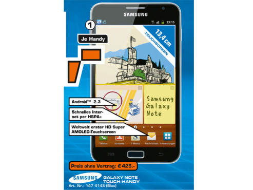 Samsung Galaxy Note © Saturn