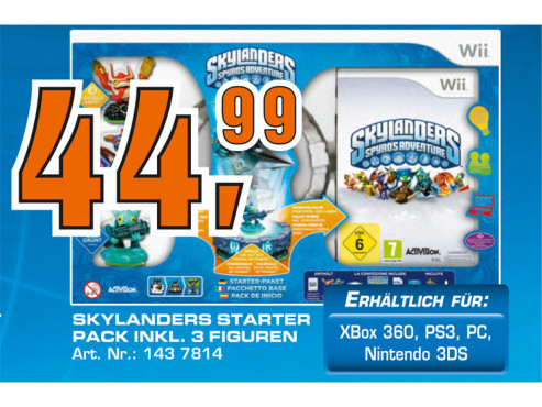 Skylanders: Spyro's Adventure - Starter Pack (Wii) ©Saturn