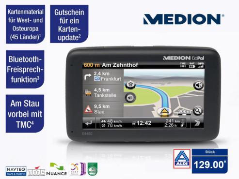 Medion GoPal E4460 (MD98960) Navigationssystem ©Aldi-Nord