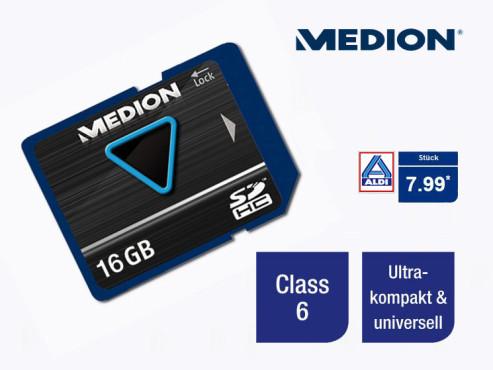 Medion P89089 (MD86539) Speicherkarte ©Aldi Nord