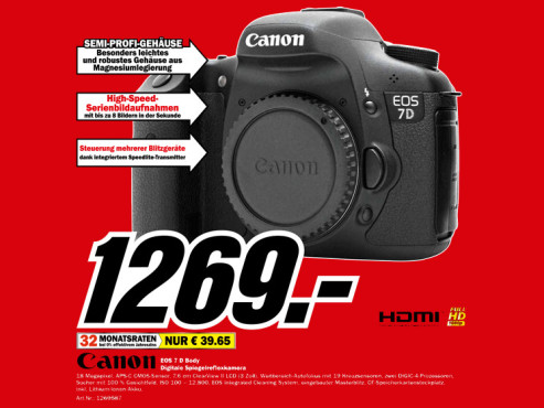 Canon EOS 7D Body © Media Markt