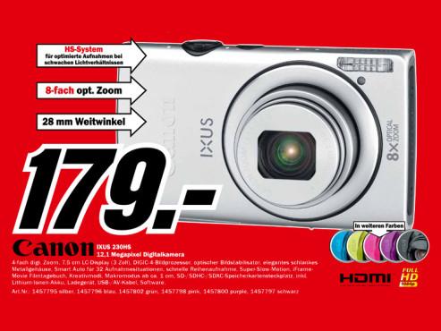 Canon IXUS 230 HS ©Media Markt