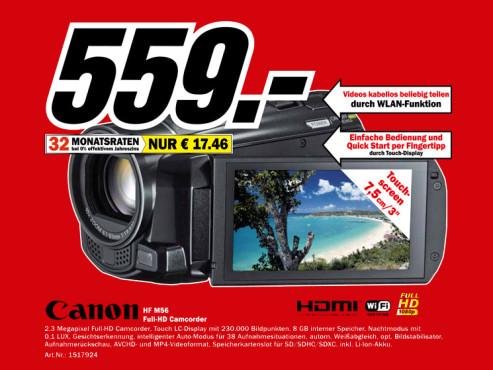 Canon Legria HF M56 ©Media Markt