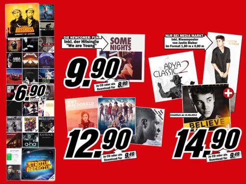Diverse Musik-CDs ©Media Markt