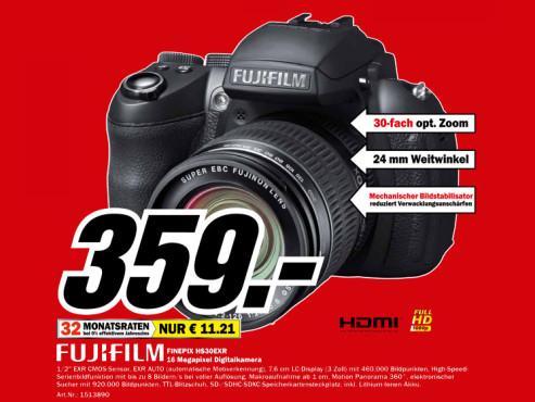 Fujifilm FinePix HS30EXR ©Media Markt