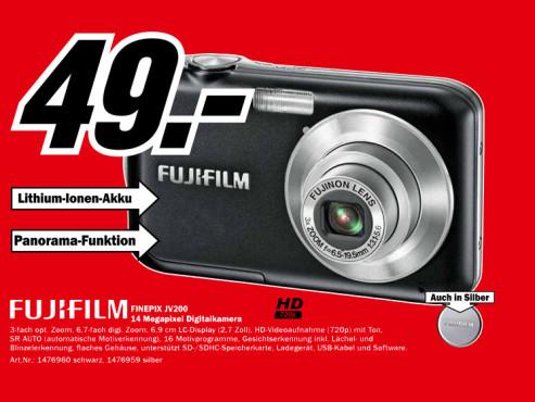 Fujifilm FinePix JV200 ©Media Markt