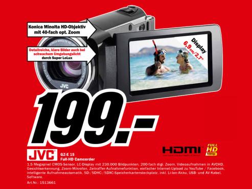 JVC GZ-E15 ©Media Markt