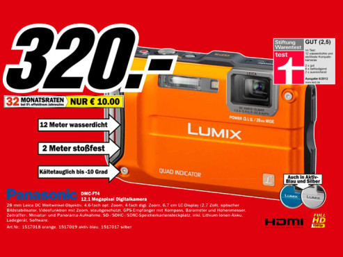 Panasonic Lumix DMC-FT4 © Media Markt