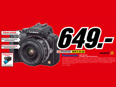 Panasonic Lumix DMC-G3 Kit 14-42 mm (DMC-G3X) © Media Markt