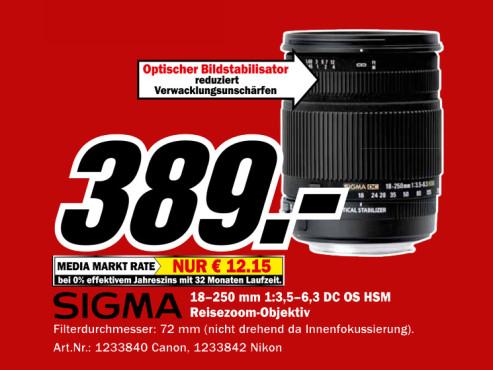 Sigma 18-250mm f3.5-6.3 DC OS HSM [Nikon] ©Media Markt