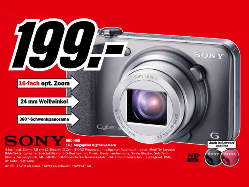 Sony Cyber-shot DSC-H90 © Media Markt