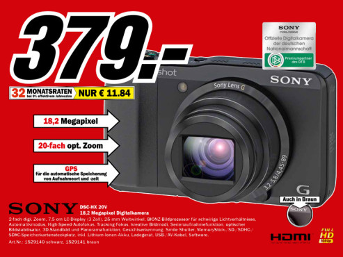 Sony Cyber-shot DSC-HX20V © Media Markt