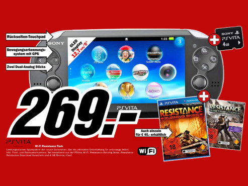 Sony Playstation Vita Wi-Fi Resistance Pack © Media Markt