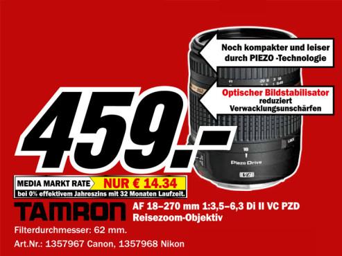 Tamron AF 18-270mm f3.5-6.3 Di II VC PZD (Canon) ©Media Markt